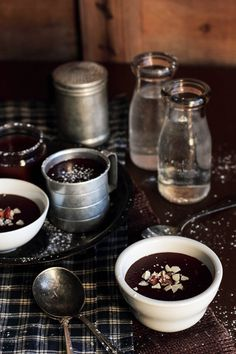 A CUP OF JO: The Best Chocolate Pudding You'll Ever Have (in 15 minutes!) (I would substitute coconut cream or coconut milk for the dairy).