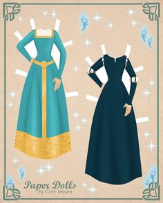 Merida Paper Doll part 2 from Disney Movie Brave paper dolls by Cory