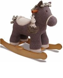 Bobble and Pip Infant Rocker Rocking Horse soft fabric Child Gift Ideas Animals Walking Toys  Buy online at www.jinneyring.co.uk
