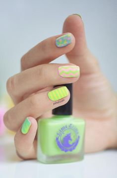 Summer nails w/ bright colors