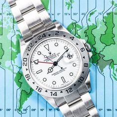 Rolex Stainless Steel Explorer II White Dial 16570 #Rolex #ExplorerII #16570 #Polar