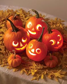 Pick your best pumpkin and have your carving tools to the ready -- it's Halloween! Whether you want to go spooky or goofy, we have tons of Halloween pumpkin ideas for you to choose from and tips on how to safely carve a pumpkin. Diy Halloween, Halloween Tipps, Deco Haloween, Holidays Halloween, Vintage Halloween, Halloween Pumpkins, Halloween Decorations, Happy Halloween, Halloween Clothes