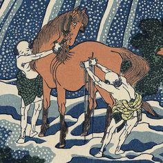 和州吉野義経馬洗滝|葛飾北斎|諸国滝廻り|浮世絵のアダチ版画オンラインストア