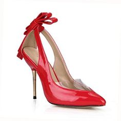 ae9b991e8e1 Amazon.com  Dress Stilettos Pointy Heeled Pump Sandals Lady MULTI COLORS  Bowtie Prom Wedding