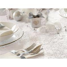 Bordløper - Organsa med Swirlprint - Hvit - x Place Cards, Place Card Holders, Elegant, Wedding, Classy, Valentines Day Weddings, Mariage, Weddings, Marriage