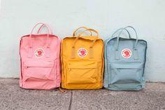 Fjallraven Kanken: Their Most Popular Backpack - Vsco Girl Mochila Jansport, Mochila Kanken, Kanken Backpack Mini, Kanken Mini, Backpack Bags, Diaper Backpack, Kipling Backpack, Yellow Backpack, Popular Backpacks