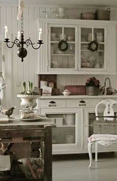 .notice the bottom shelves and drawer pulls