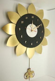 Sunflower Pendulum Bronze Wall Clock Handicraft, Art Home Decoration Decoration, Handicraft, Bronze, Wallpaper, Frame, Gifts, Sunflowers, Clocks, Art