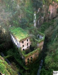 Mill built in 1866. Sorrento, Italy.