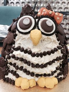 My version of the owl birthday cake!