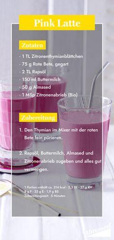 Pretty in Pink! 💕 Er hat kaum Kalorien, dafür liefert er jede Menge Vitamine, Mineralstoffe und sekundäre Pflanzenstoffe: Unser Almased-Shake mit Roter Bete ist der perfekte Drink für einen gesunden Start in den Tag.   #almased #proteinshake #shakerezepte #rezeptideen #shakeit #prettyinpink