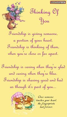 Thinking of you friendship quote hello friend friendship quote friend quote poem thinking of you graphic friend poem Special Friend Quotes, Best Friend Quotes, Friend Sayings, Sister Friend Quotes, Special Friends, Close Friends, Friendship Poems, Friend Friendship, Happy Friendship