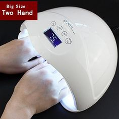 """Universe of goods - Buy """"Twee hand 48 W Dual UV LED Nail Lamp Nail Droger Gel Polish Curing Light met Bodem 30 s Timer lcd-scherm"""" for only USD. Gel Uv, Uv Gel Nail Polish, Uv Gel Nails, Shellac Nails, Perfect Illusion, Cure Nails, Nailart, Uv Nail Lamp, Gel Nails"""