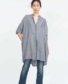 Image 2 of OVERSIZE LONGLINE SHIRT from Zara