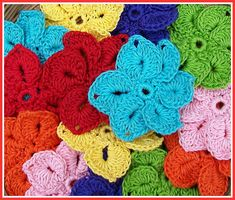 Flower Pattern - I used Simply Soft with an F hook for the chain 10 and slip stitches and a G hook for the petals.