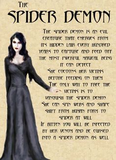 "Book of Shadows:  ""The Spider Demon."""
