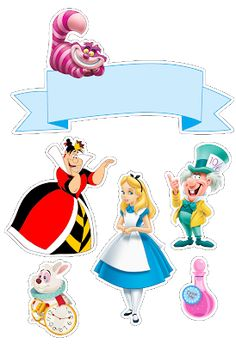 Disney alice in wonderland party printable Alice In Wonderland Printables, Alice In Wonderland Tea Party, Mad Hatter Party, Mad Hatter Tea, Scrapbook Da Disney, Emoji 2, Deco Stickers, Princesas Disney, Happy Planner