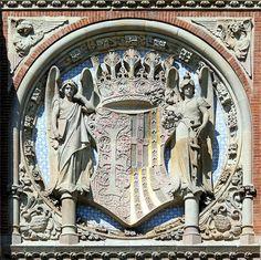 Hospital de la Santa Creu i Sant Pau. Architect: Lluís Domènech i Montaner. Barcelona - St. Antoni Maria Claret.