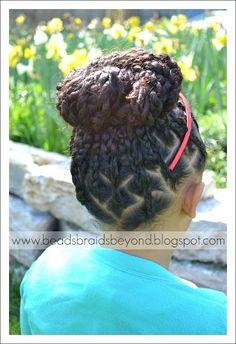 BEADS BRAIDS & BEYOND : BRAIDED BOX BRAIDS / LITTLE GIRLS HAIR / SCALP BRAIDS / CORN ROLLS / NATURAL HAIR / HAIRSTYLE / HAIR DO / PROTECTIVE HAIRSTYLE / BUN