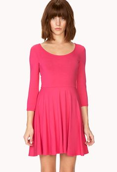 Basic Skater Dress $9.80 #college #style Get 4% cash back http://www.studentrate.com/all/get-all-student-deals/Forever21-Student-Discounts--/0