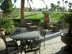 Backyard Patio | Backyard Patio with View of Golf Course