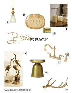 Blog — Brass Is Back by Graber Interiors.  Totally agree Kelly!