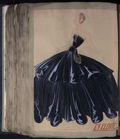 Robe Cyclone, Paris 1939, copyright Patrimoine Lanvin #JeanneLanvin #Lanvin