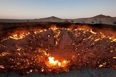 The Door to Hell - natural gas field in Turkmenistan