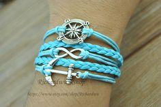 Anchor charm braceletCompass braceletInfinity by Richardwu on Etsy, $5.50