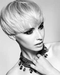 Toni and Guy hair. One of the few short haircuts I like, this really works on her