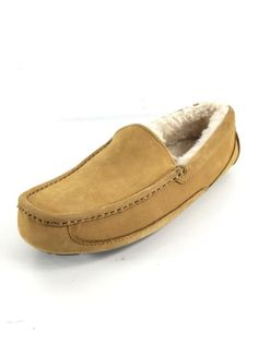 22aa0782d72 1854 Ugg Australia Ascott Tan Leather Wool Loafers Men Size 8  fashion   clothing