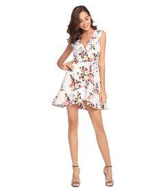 967bf2aaee Sexy Short Chiffon V Neck Floral Printed Women Dresses