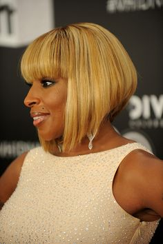 Mary J. Blige Hair - a great looking graduated concave bob.