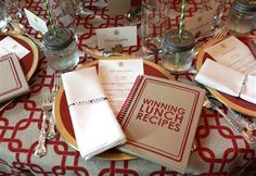 Place settings at the first every Kids State Dinner, White House style.