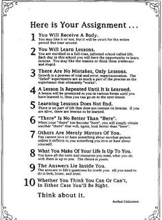 10 Rules for Being Human, ..think i actually have this folded up in my hope chest....since high school