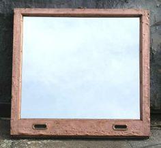 Copper window frame mirror