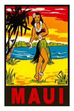 Maui Hula Premium Poster