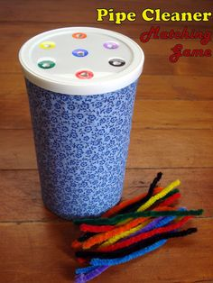 se la cava.: Pipe Cleaner Matching Game