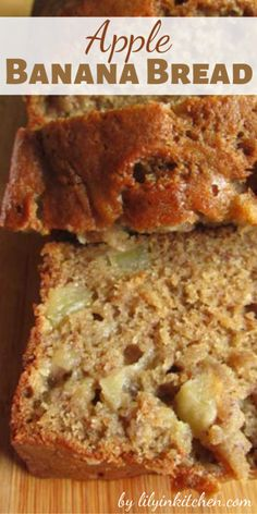Banana Bread With Applesauce, Banana Zucchini Muffins, Banana Nut Bread, Healthy Banana Bread, Apple Cinnamon, Banana Apple Recipes, Pumpkin Cake Recipes, Apple Desserts, Apple Bread Recipe Healthy