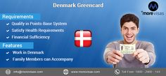 Want to work in #Denmark? Then, Denmark #Greencard will be the right choice for you. For more details contact our #MoreVisas immigration consultants