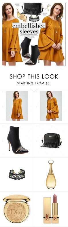 """""""Embelished Sleeves"""" by oshint ❤ liked on Polyvore featuring Christian Dior, Yves Saint Laurent, vintage, awesome, cool, pretty, twinkledeals and embelishedsleeves"""