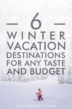 Winter Vacations for Any Taste and Budget: 6 Cold and Warm Destinations - Finance tips, saving money, budgeting planner Ways To Save Money, Money Tips, Money Saving Tips, Managing Money, Living On A Budget, Frugal Living Tips, Cheap Winter Vacations, Budget Travel, Travel Tips