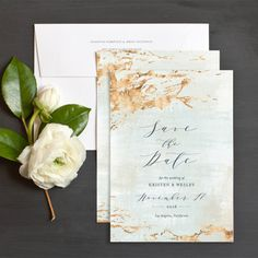 Earthy Organic Save The Date Cards by Emily Crawford | Elli