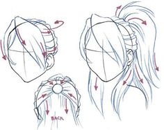 drawing girl hair styles | drawing tutorials Types of Hairstyles