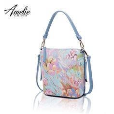 362f5390f4 AMELIE GALANTI Small Women Crossbody Bags Ladies Bucket Handbag Flower  Pattern Fashion Female Shoulder Bag Zipper Compact