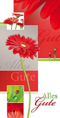 #PC #Grusskarte Alles Gute mit #Blumen