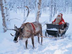 Winter Holiday, Lapland, Europe, Santa Claus Sleigh Ride