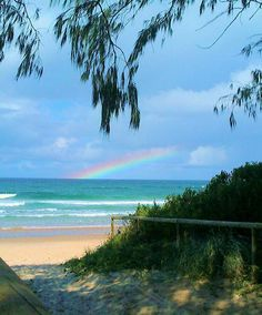 Spring rainbow from Miami beach, QLD Somewhere Over, Over The Rainbow, Miami Beach, Natural Beauty, Spring, Water, Outdoor, Gripe Water, Outdoors