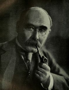 """""""Thought in the early morning, solace in time of woes,  Peace in the hush of the twilight, balm ere my eyelids close""""  - Rudyard Kipling (with pipe)"""