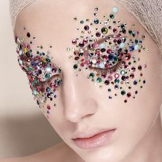 drag queen makeup with rhinestones on face - Google Search